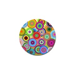 Psychedelic Flowers Golf Ball Marker 4 Pack by StuffOrSomething
