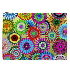 Psychedelic Flowers Cosmetic Bag (xxl) by StuffOrSomething