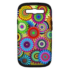 Psychedelic Flowers Samsung Galaxy S Iii Hardshell Case (pc+silicone) by StuffOrSomething