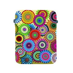 Psychedelic Flowers Apple Ipad Protective Sleeve by StuffOrSomething