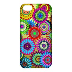 Psychedelic Flowers Apple Iphone 5c Hardshell Case by StuffOrSomething