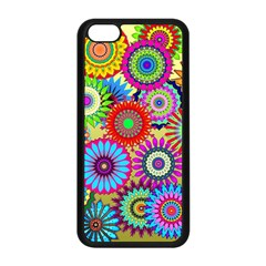 Psychedelic Flowers Apple Iphone 5c Seamless Case (black) by StuffOrSomething