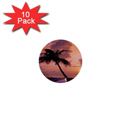 Sunset At The Beach 1  Mini Button (10 Pack) by StuffOrSomething