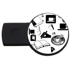 Books And Coffee 2gb Usb Flash Drive (round) by StuffOrSomething