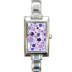 Purple Awareness Dots Rectangular Italian Charm Watch by FunWithFibro