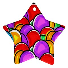 Colored Easter Eggs Star Ornament by StuffOrSomething