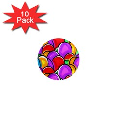 Colored Easter Eggs 1  Mini Button Magnet (10 Pack) by StuffOrSomething