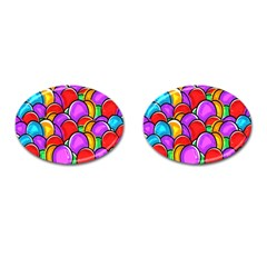 Colored Easter Eggs Cufflinks (oval) by StuffOrSomething