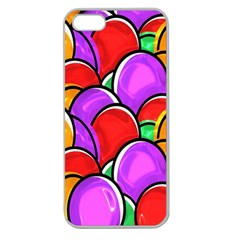 Colored Easter Eggs Apple Seamless Iphone 5 Case (clear) by StuffOrSomething