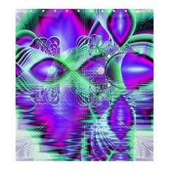 Violet Peacock Feathers, Abstract Crystal Mint Green Shower Curtain 66  X 72  (large) by DianeClancy
