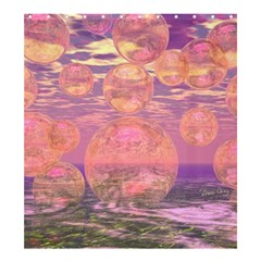 Glorious Skies, Abstract Pink And Yellow Dream Shower Curtain 66  X 72  (large) by DianeClancy