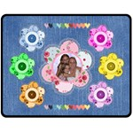 Button Flower medium blanket - Fleece Blanket (Medium)
