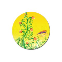 Whimsical Tulips Magnet 3  (round) by StuffOrSomething