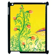 Whimsical Tulips Apple Ipad 2 Case (black) by StuffOrSomething