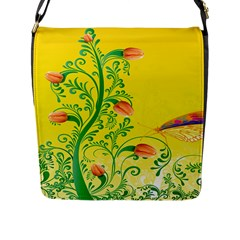 Whimsical Tulips Flap Closure Messenger Bag (large) by StuffOrSomething