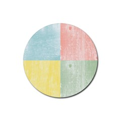 Pastel Textured Squares Drink Coasters 4 Pack (round) by StuffOrSomething