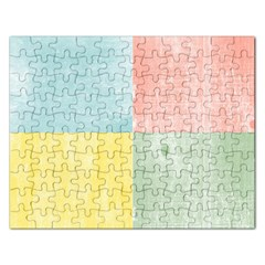 Pastel Textured Squares Jigsaw Puzzle (rectangle) by StuffOrSomething