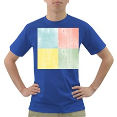 Pastel Textured Squares Men s T Shirt (colored) by StuffOrSomething