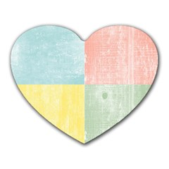 Pastel Textured Squares Mouse Pad (heart)