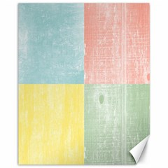 Pastel Textured Squares Canvas 11  X 14  (unframed) by StuffOrSomething
