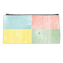 Pastel Textured Squares Pencil Case by StuffOrSomething