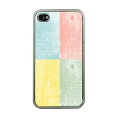 Pastel Textured Squares Apple Iphone 4 Case (clear) by StuffOrSomething