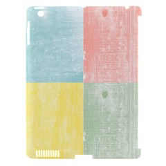 Pastel Textured Squares Apple Ipad 3/4 Hardshell Case (compatible With Smart Cover) by StuffOrSomething