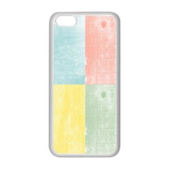 Pastel Textured Squares Apple Iphone 5c Seamless Case (white) by StuffOrSomething