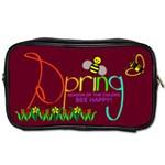 Spring 2 sided toiletries bag - Toiletries Bag (Two Sides)