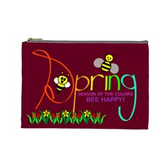 Spring Large Cosmetic Bag By Joy Johns   Cosmetic Bag (large)   H2x34w6w0k66   Www Artscow Com Front