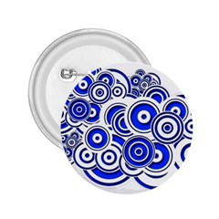 Trippy Blue Swirls 2 25  Button by StuffOrSomething