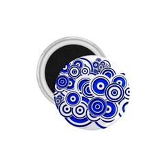 Trippy Blue Swirls 1 75  Button Magnet by StuffOrSomething