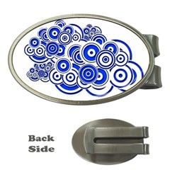 Trippy Blue Swirls Money Clip (oval) by StuffOrSomething