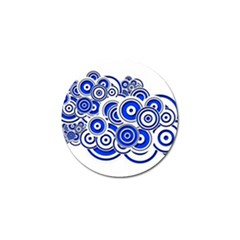 Trippy Blue Swirls Golf Ball Marker 4 Pack by StuffOrSomething