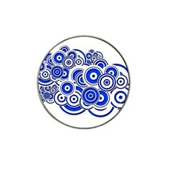 Trippy Blue Swirls Golf Ball Marker 4 Pack (for Hat Clip) by StuffOrSomething