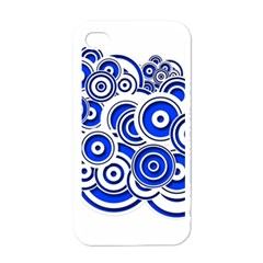 Trippy Blue Swirls Apple Iphone 4 Case (white) by StuffOrSomething