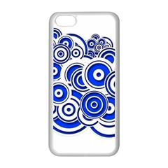 Trippy Blue Swirls Apple Iphone 5c Seamless Case (white) by StuffOrSomething