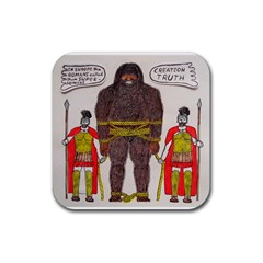 Big Foot & Romans Drink Coaster (square) by creationtruth