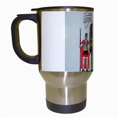Big Foot 2 Romans Travel Mug (white) by creationtruth