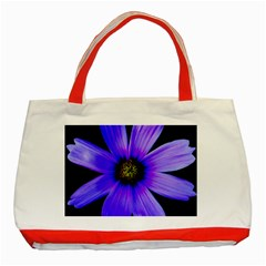 Purple Bloom Classic Tote Bag (red) by BeachBum