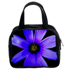 Purple Bloom Classic Handbag (two Sides) by BeachBum