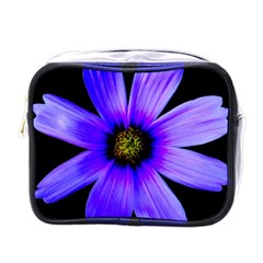 Purple Bloom Mini Travel Toiletry Bag (one Side) by BeachBum
