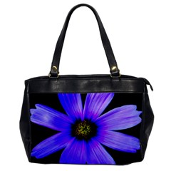 Purple Bloom Oversize Office Handbag (one Side) by BeachBum