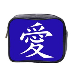 Love In Japanese Mini Travel Toiletry Bag (two Sides) by BeachBum