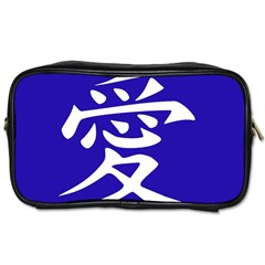 Love In Japanese Travel Toiletry Bag (two Sides) by BeachBum