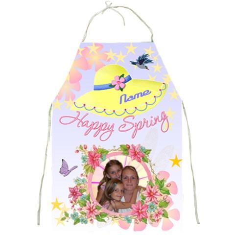 Happy Spring Apron #3 By Joy Johns   Full Print Apron   7bgpejouidab   Www Artscow Com Front