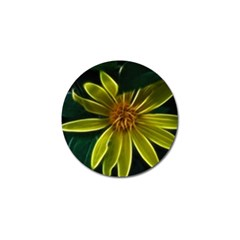 Yellow Wildflower Abstract Golf Ball Marker 10 Pack by bloomingvinedesign