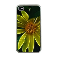 Yellow Wildflower Abstract Apple Iphone 4 Case (clear) by bloomingvinedesign