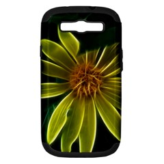 Yellow Wildflower Abstract Samsung Galaxy S Iii Hardshell Case (pc+silicone) by bloomingvinedesign
