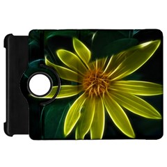 Yellow Wildflower Abstract Kindle Fire Hd 7  (1st Gen) Flip 360 Case by bloomingvinedesign